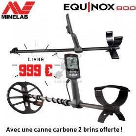 MINELAB EQUINOX 800 + Canne carbone 2 brins
