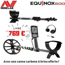 MINELAB EQUINOX 600 + Canne Carbone 4 brins offerte